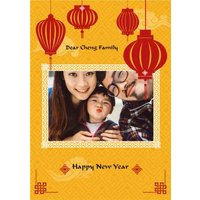 Chinese Happy New Year Photo Upload Card, Standard Size By Moonpig