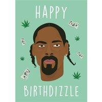 Modern Funny Happy Birthdizzle Birthday Card, Giant Size By Moonpig