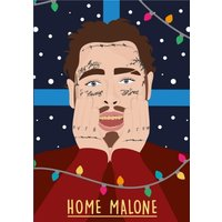 Home Malone Christmas Card, Standard Size By Moonpig