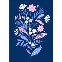 Mum Thanks For Helping Me Grow Card, Standard Size By Moonpig