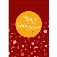 Fun Modern Typographic Happy New Year Card, Giant Size By Moonpig