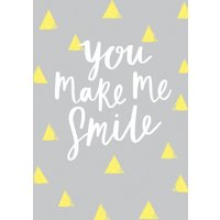 Abstract You Make Me Smile Card, Standard Size By Moonpig