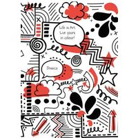 Street Doodlz Personalised Red Card, Giant Size By Moonpig