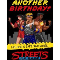 Sega Streets Of Rage Another Birthday Card, Standard Size By Moonpig