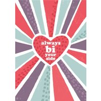 Always Bi Your Side Bisexual Graphic Pattern Valentine's Day Card, Giant Size By Moonpig