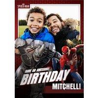 Marvel Spiderman Gamerverse Photo Upload Birthday Card, Giant Size By Moonpig