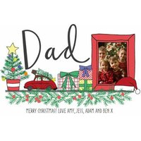 Shelfie Merry Christmas Dad Personalised Card, Giant Size By Moonpig