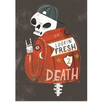 Birthday Card - Male Looking Fresh Skeleton, Giant Size By Moonpig
