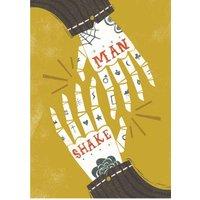 Birthday Card - Male Man Shake Handshake Skeleton, Standard Size By Moonpig