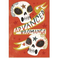 Birthday Card - Male Bromance Sugar Skulls, Standard Size By Moonpig