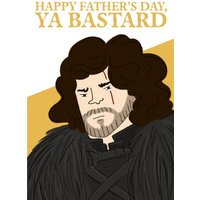 Game Of Thrones Father's Day Card - Jon Snow GOT Thrones, Standard Size By Moonpig