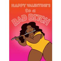 Funny Topical Lizzo Bad Bitch Valentine's Day Card, Giant Size By Moonpig