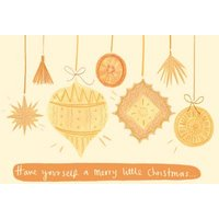Have Yourself A Merry Little Christmas Bauble Card, Large Size By Moonpig