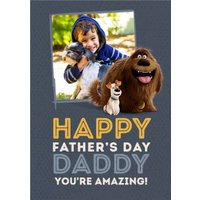 Secret Life Of Pets 2 You're Amazing Father's Day Photo Card, Large Size By Moonpig
