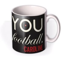 Valentine's Day More Than Football Personalised Mug by Moonpig, Gift Set - Delivery Available
