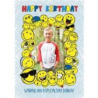 Smiley World Sticker Frame Photo Upload Card, Standard Size By Moonpig