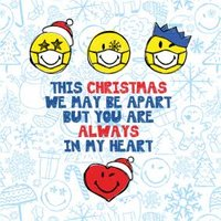 Smiley World You Are Always In My Heart Christmas Card, Square Card Size By Moonpig
