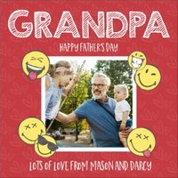 Grandpa Happy Fathers Day Card, Square Card Size By Moonpig