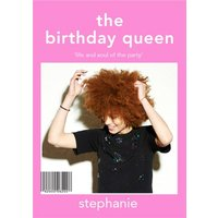 The Birthday Queen Cover Photo Upload Card, Standard Size By Moonpig