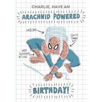 Marvel Spiderman Have An Arachnid Powered Birthday Card, Standard Size By Moonpig