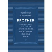 Studio Sundae In Loving Memory Brother Sympathy Card, Large Size By Moonpig
