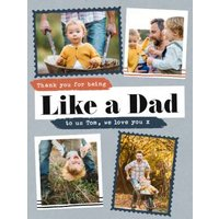 Modern Photo Upload Collage Like A Dad Father's Day Card, Standard Size By Moonpig