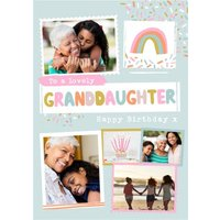 Modern Photo Upload Collage To A Lovely Granddaughter Birthday Card, Standard Size By Moonpig