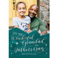 For My Wonderful Grandad On Father's Day Photo Card, Large Size By Moonpig
