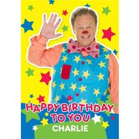 'Mr Tumble Birthday Card - Happy To You, Standard Size By Moonpig