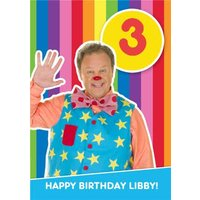 'Mr Tumble Birthday Card - Happy Age 3 Card, Standard Size By Moonpig