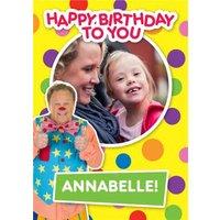 'Mr Tumble Birthday Card - Happy Photo Upload, Standard Size By Moonpig