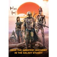 Star Wars The Mandalorian Greatest Birthday Card, Giant Size By Moonpig