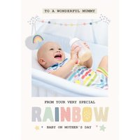 Rainbow Baby Photo Upload Mother's Day Card, Large Size By Moonpig