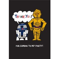 Star Wars C3Po And R2D2 Cutouts Personalised Thank You Card, Standard Size By Moonpig