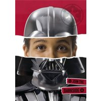 Star Wars Darth Vader Face Photo Card, Giant Size By Moonpig