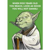 Birthday Card - Star Wars Yoda, Large Size By Moonpig
