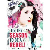 Tis The Season To Be A Rebel Christmas Card, Standard Size By Moonpig