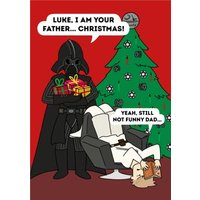 Disney Star Wars I Am Your Father Christmas Funny Darth Vader Card, Standard Size By Moonpig
