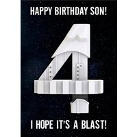 Star Wars Happy Fourth Birthday Hope Its A Blast Card , Giant Size By Moonpig