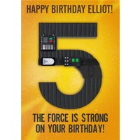 Star Wars Happy Fifth Birthday The Force Is Strong Card , Standard Size By Moonpig