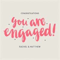 You Are Engaged Personalised Text Card, Large Square Card Size By Moonpig