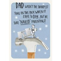 Diy Dad Sure 'Nailed' Parenting Funny Father's Day Card, Standard Size By Moonpig