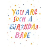 Birthday Babe Funny Card, Giant Size By Moonpig