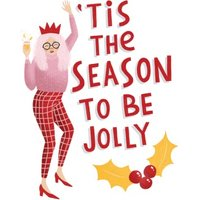 Tis The Season To Be Jolly Card, Standard Size By Moonpig