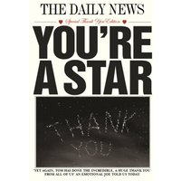 The Daily News You're A Star Personalised Thank You Card, Giant Size By Moonpig