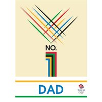 Team GB Number 1 Dad, Giant Size By Moonpig