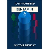 Team GB To My Boyfriend On Your Birthday Personalised Card, Large Size By Moonpig