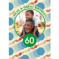 Team GB Circle Pattern 60th Birthday Photo Upload, Giant Size By Moonpig