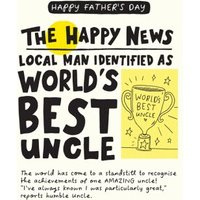 The Happy News World's Best Uncle Father's Day Card, Large Size By Moonpig