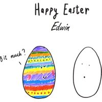 Rainbow Egg Versus Blank Funny Happy Easter Card, Giant Size By Moonpig